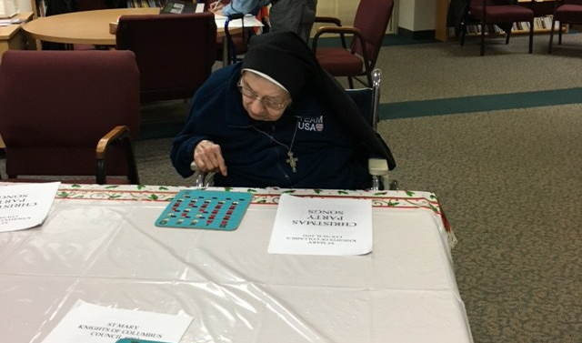 Saint Mary Mokena Knights of Columbus Bingo for Nuns