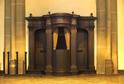 The sacrament of confession.