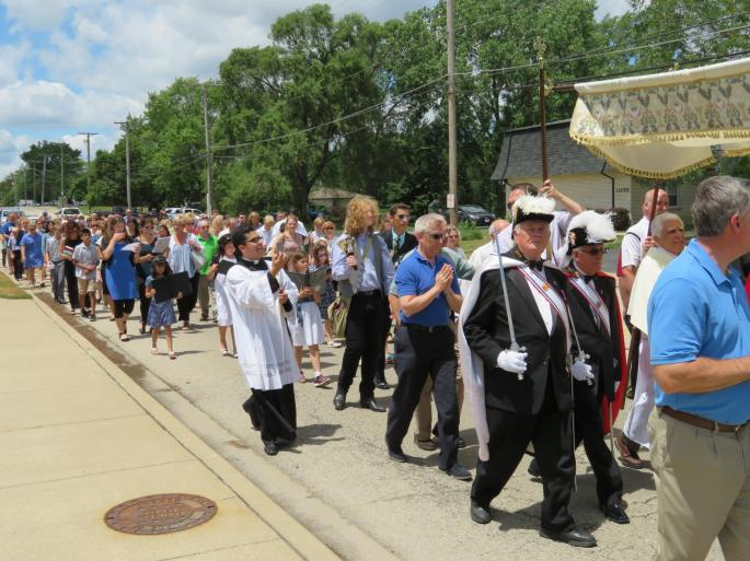 St. Mary Mokena Corpus Christi Procession