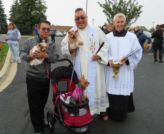 Father Dindo at Saint Mary Pet Blessing