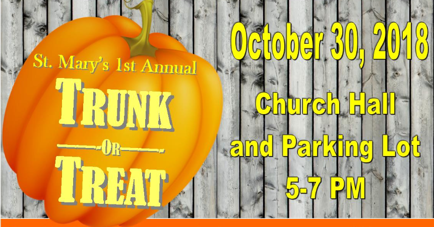 Saint Mary Mokena Trunk or Treat