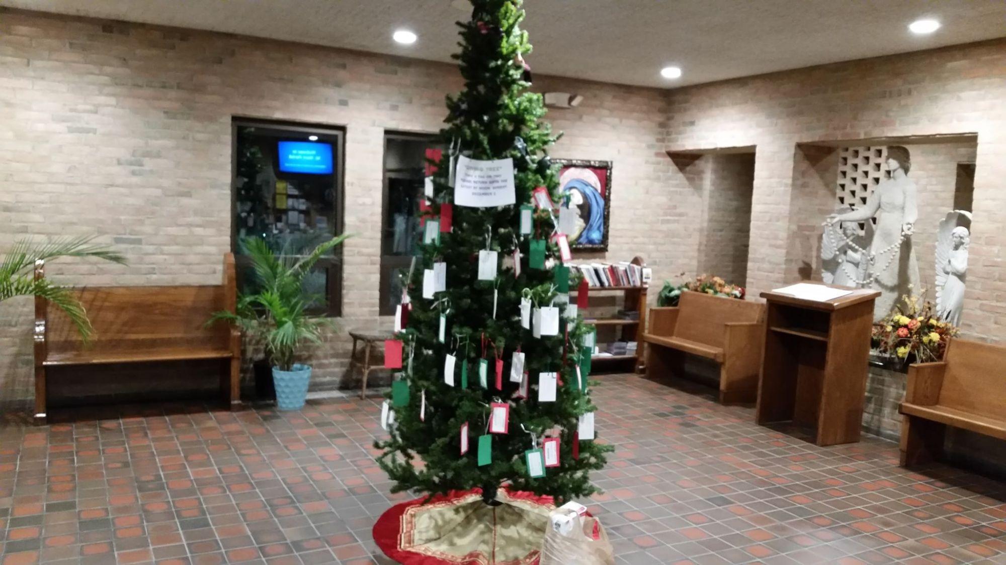 Saint Mary Christmas Gift Tree