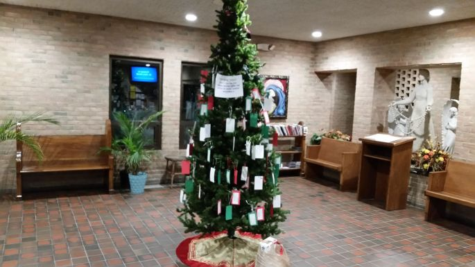 Saint Mary Christmas Gift Tree