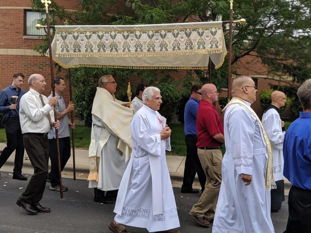 Corpus Christi Blessed Sacrament canopy