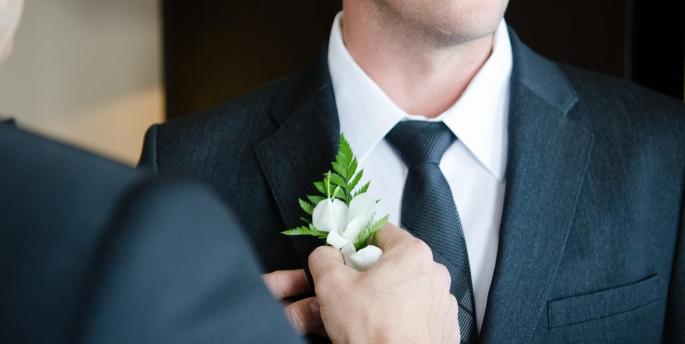 man getting married