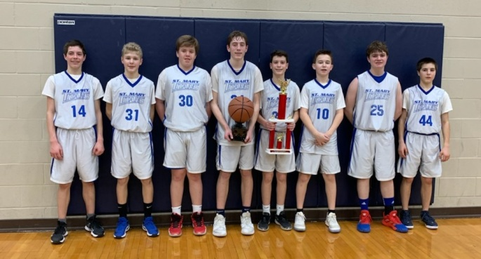 st. mary mokena 8th grade boys basketball team 2020