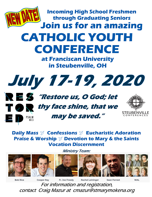 2020 Steubenville Catholic Youth Conference Flyer