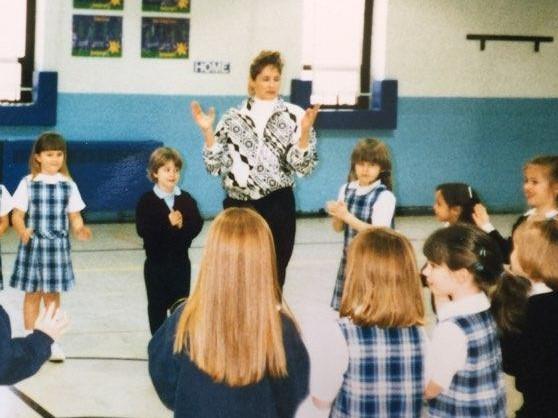 Mrs. Lindley teaching