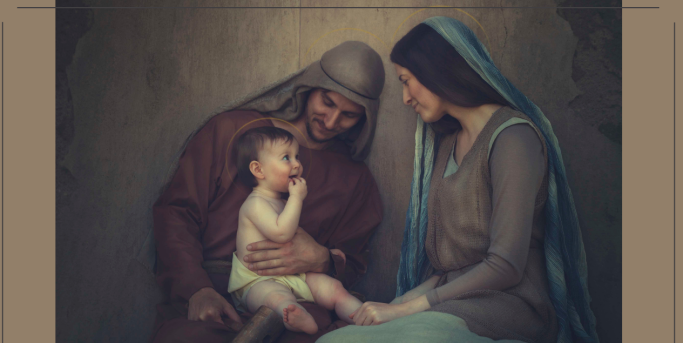 St. Joseph, Mary, and Jesus