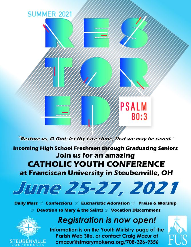 Steubenville Youth Conference Flyer 2021