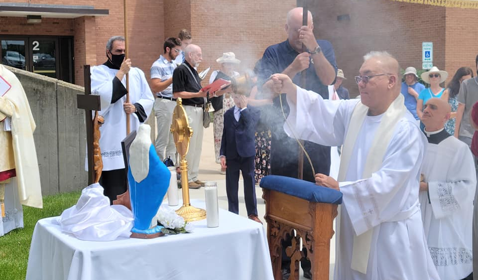 Father Dindo with Incense